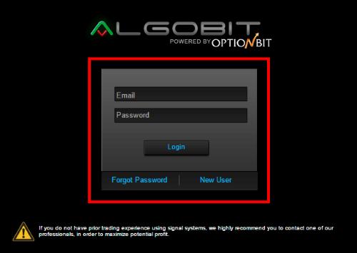 アルゴビットのログインページ