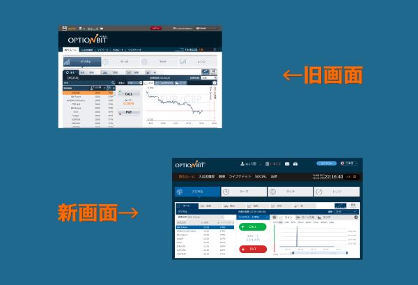 オプションビット新旧取引画面比較