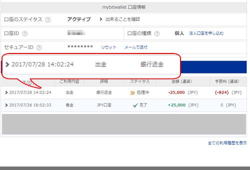 mybitwalletマイページ画像